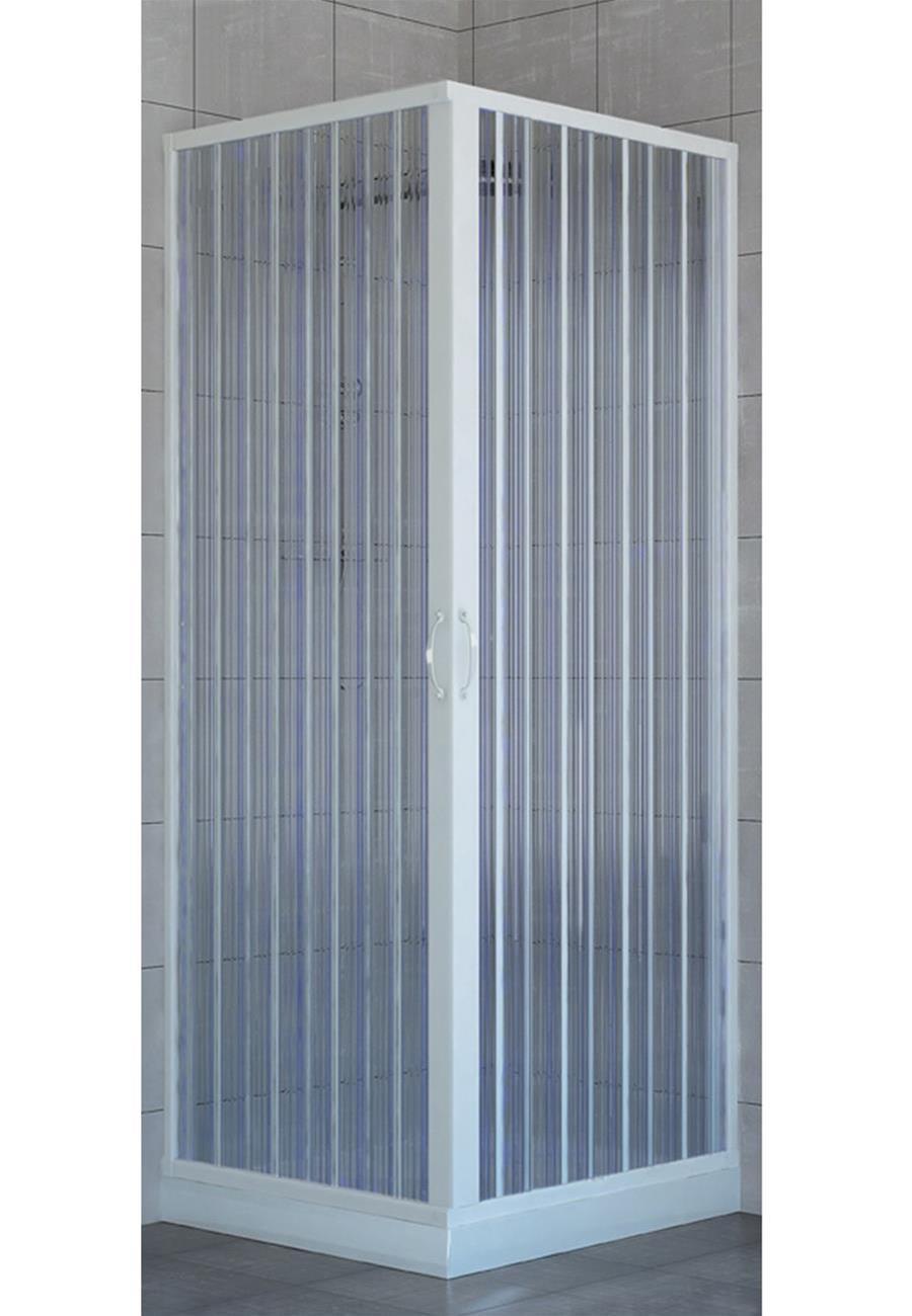 Box doccia a soffietto cabina doccia in pvc riducibile 2 for Box doccia angolare 90x90