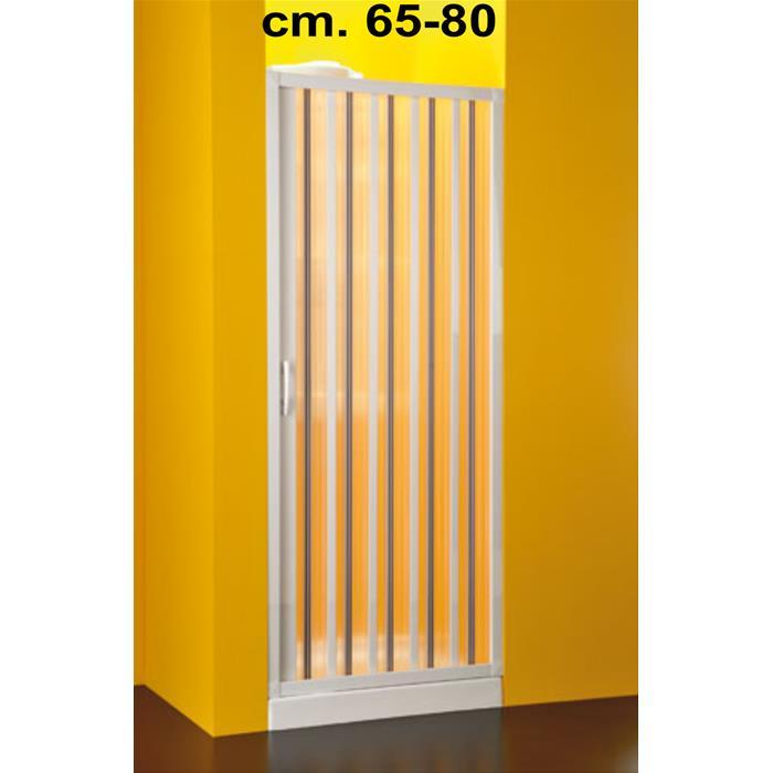 Porta doccia a soffietto 1 lato riducibile 65 80 cm - Porta a soffietto per doccia ...