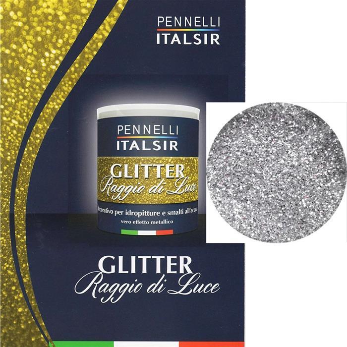 Glitter 3d In Emulsione Gel 250 Ml Argento Per Idropittura Pittura Murale Decoro Ebay